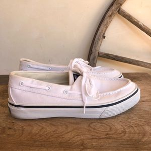 SPERRY TOP SIDER Canvas⛵️Deck Boat Loafer🛥 Men's